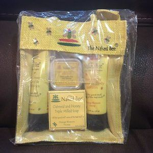 Naked Bee Gift Set  Kit Lotion Soap Shampoo Lip
